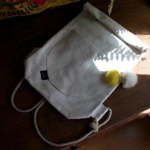 white mini backpack